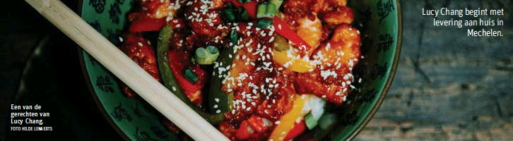 ?? FOTO HILDE LENAERTS ?? Een van de gerechten van Lucy Chang.