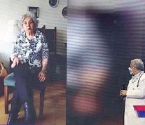 """??  ?? La mami del profesional de la salud apareció públicamente en el """"Vamos Chilenos"""", de septiembre."""