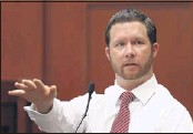 ?? JOE BURBANK / ASSOCIATED PRESS ?? Jonathan Good, a neighbor who witnessed part of the confrontation between George Zimmerman and Trayvon Martin, testifies during the 15th day of Zimmerman's trial in Seminole circuit court in Sanford, Fla., Friday.