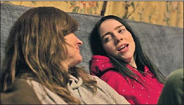 ?? Apple TV+ ?? BILLIE EILISH talks with her mother, Maggie Baird, who travels on tour with her, in the new documentary.