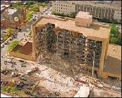 ?? Associated Press ?? THE MURRAH Federal Building was devastated by an explosion that killed 168 people on April 19, 1995.