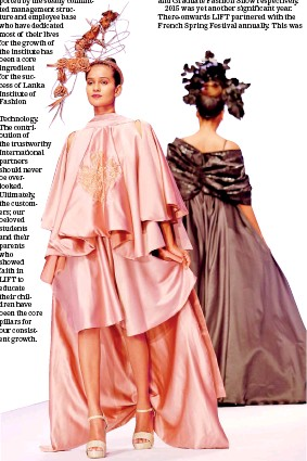 Pressreader Sunday Times Sri Lanka 2020 08 16 Reminiscing 20 Years Of Fashion Mastery With Lanka Institute Of Fashion Technology