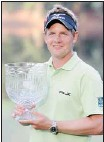 ?? harry how, getty images ?? England's Luke Donald shot a five-under-par 22 to win the Par-3 contest Wednesday at Augusta.