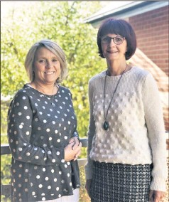 ?? Warm welcome: ?? The Centre chief executive officer Felicity Williams with new board chair Carol Nolan.