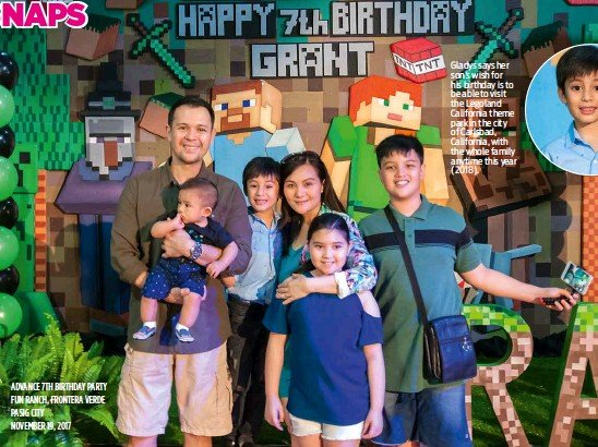 AdvANCe 7TH BIRTHdAY PARTY FUN RANCH FRONTeRA VeRde PASIG CITY NOveMbeR 19 2017 The Good Looking Sommereux Family Posed For A Souvenir Photo With Birthday