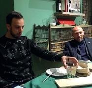 ??  ?? Brignoli e Quironi durante la cena I due amici si sono ritrovati domenica sera in un ristorante del centro di Lucca