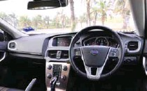 ??  ?? The cabin layout of the V40 Cross Country variant is similar to the other versions, with a generous dosage of high-quality leather and soft-touch material
