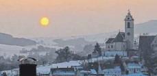 ?? FOTO: CARMEDI TOCKI ?? Sonnenuntergang in Seitingen-Oberflacht.