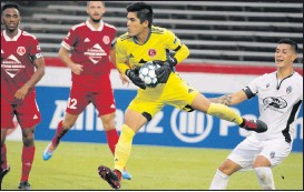 ?? FILE, JOE MAHONEY/TIMES-DISPATCH ?? Goalkeeper Akira Fitzgerald, now 33 years old, has served as a leader for the Kickers since joining the club in 2019. He re-signed for the 2021 season as a player and coach.