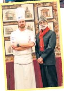 ??  ?? ALMA's ambassador-chef Carlo Maria Ricci with Neemrana Hotels' chairman, Aman Nath