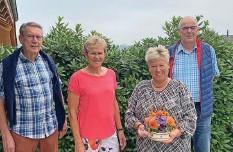 ?? Foto: PD ?? Der Vorstand von «Netzwärch60 Roggu»: Willy Uetz, Elsbeth Häusler, Colette Grütter, Martin Herger (v. l.). Annemarie Ammann fehlt.