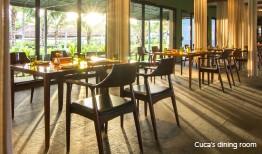 ??  ?? Cuca's dining room