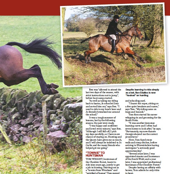 """??  ?? Despite learning to ride simply as a bet, Ben Skailes is now """"hooked"""" on hunting"""