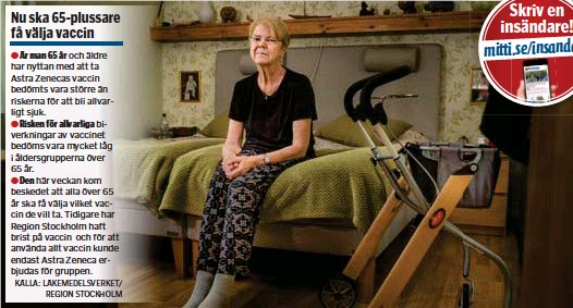 ?? FOTO: CLAUDIO BRITOS ?? Carina Carlson fick en blodpropp i benet efter att ha fått Astra Zenecas vaccin mot covid-19.
