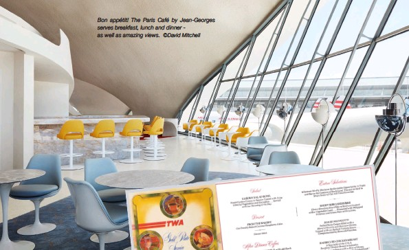?? ©David Mitchell ?? Bon appétit! The Paris Café by Jean-georges serves breakfast, lunch and dinner as well as amazing views.
