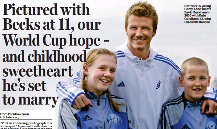 Pictured With Becks At 11 Our World Cup Hope And Childhood Sweetheart He S Set To Marry Pressreader