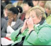??  ?? TEAR­FUL TIME: Cradock Prepara­tory School prin­ci­pal El­mar Heese at the ser­vice
