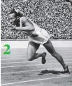??  ?? Jesse Owens won four golds under the watchful eye of Adolf Hitler. 2