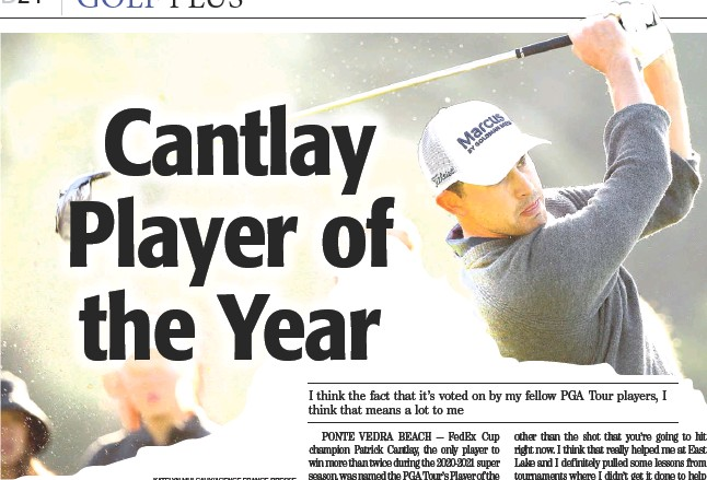 Cantlay Player of the Year - PressReader