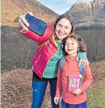 ??  ?? ● Keen hillwalkers Emily and Isla Bryce