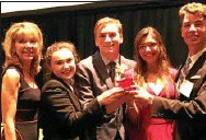 ?? SUBMITTED PHOTO ?? Pictured, from left to right, are: Donna Marie De Carolis, Ph.D., founding Dean of Charles D. Close School of Entrepreneurship at Drexel University; and Bishop Shanahan High School students from the winning team Faith Busanic, Michael Skros, Hailey...