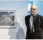 ??  ?? Rolf Urban bei der Vernissage im Alten Bau in Geislingen.