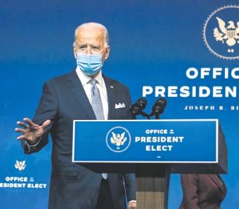 ??  ?? Joe Biden asumirá la presidencia de Estados Unidos el 20 de enero próximo.