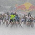 ?? BILD: SN/STÖGGL ?? Die Skiroller liefen bei strömendem Regen.
