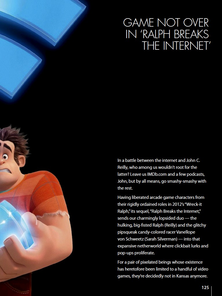 GAME NOT OVER IN 'RALPH BREAKS THE INTERNET'
