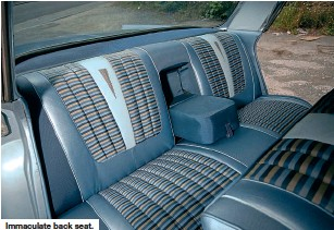 ??  ?? Immaculate back seat.