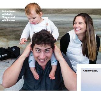 ??  ?? Justin Jones with baby Morgan and wife Lauren.