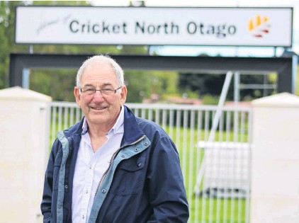 ?? PHOTO: KAYLA HODGE ?? Guardian . . . North Otago Cricket Association chairman Peter Cameron reflects on his time with the association at Centennial Park yesterday.