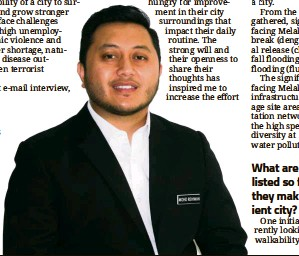 ?? — Handout ?? Ridhwan was appointed Melaka's chief resilience officer last September.