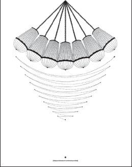 ??  ?? El dominio del mundo. Impresión sobre papel de algodón, 2014. La partitura indica el movimiento que sigue la lámpara en la performance ideada por la artista.