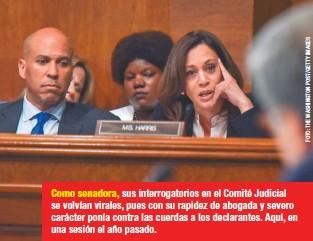 ??  ?? Como senadora, sus interrogatorios en el Comité Judicial se volvían virales, pues con su rapidez de abogada y severo carácter ponía contra las cuerdas a los declarantes. Aquí, en una sesión el año pasado.