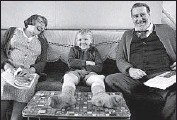 ?? ?? JUDI DENCH, left, and Ciarán Hinds play grandparents of Jude Hill's character in the family saga.