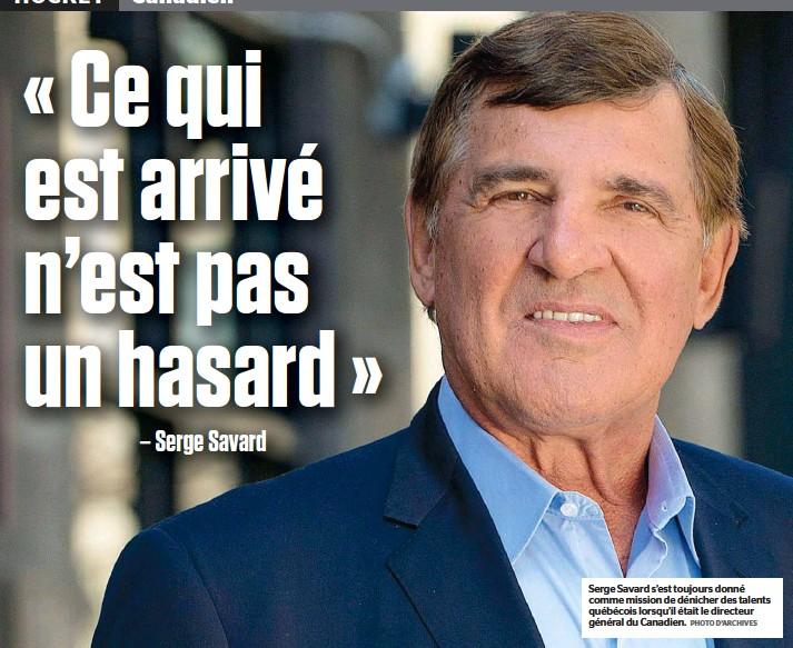 ?? PHOTO D'ARCHIVES ?? Serge Savard s'est toujours donné comme mission de dénicher des talents québécois lorsqu'il était le directeur général du Canadien.