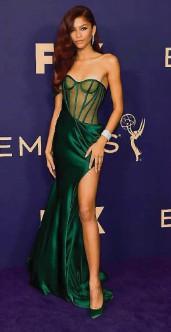 ??  ?? Zendaya at the 71st Emmy Awards.