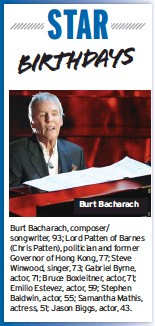 ??  ?? Burt Bacharach