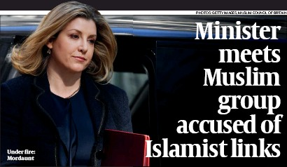 ?? PHOTOS: GETTY IMAGES, MUSLIM COUNCIL OF BRITAIN ?? Under fire: Mordaunt