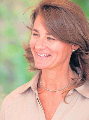 ??  ?? CNN Melinda Gates during a visit to AGRA and Farm Concern commercial farm in Mbuguni, Tanzania, on Sept 26 last year.
