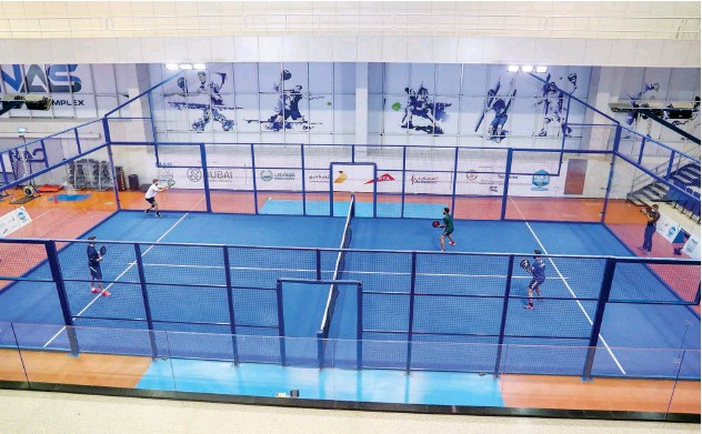 ??  ?? ↑ Sheikh Saeed Bin Maktoum Bin Juma Al Maktoum credits NAS Sports Tournament for the success of padel tennis in the UAE.