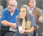 ??  ?? Liz Smith was among about 50 people at Rep. Joe Barton's meeting Tuesday.