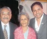 ??  ?? T T Shringla, Hari Devi Shringla and Triveshan Naidoo at the Diwali bash in Durban.