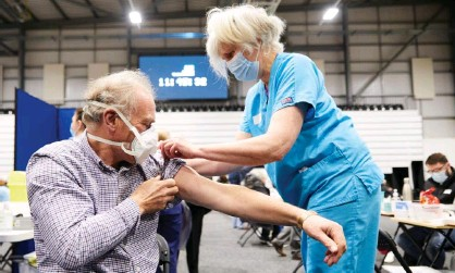 ?? Photograph: Christopher Thomond/The Guardian ?? 'If the balance of risk and benefit is framed accurately, the evidence is irresistible in favour of vaccination.'