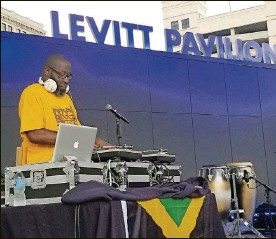 """?? CONTRIBUTED ?? DJ Skno, whoworks high-profile local events like the Reggae Festival and theAfricanAmericanWellnessWalk, currently hosts """"Power In PraiseGospelMixshow"""" and """"The ThunderstormSlowJamzMixshow"""" on the video streaming platformPeriscope."""