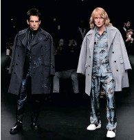 ?? PASCAL LE SEGRETAIN/Getty Images ?? Ben Stiller as Derek Zoolander, left, and Owen Wilson as Hansel walk the runway at the Valentino Fashion Show during Paris Fashion Week on Tuesday to promote Zoolander 2.