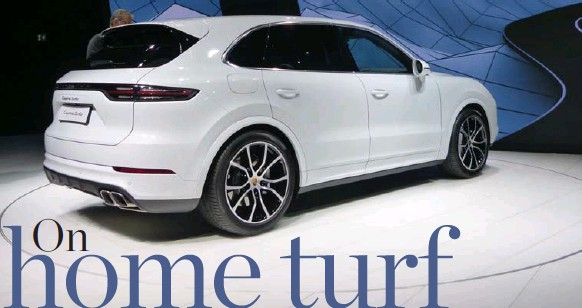??  ?? Porsche pumped up its recently unveiled all-new Cayenne SUV with the Turbo edition.