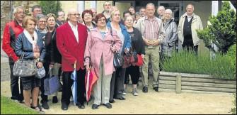 ??  ?? Les Moissagais découvrent le musée Anconina