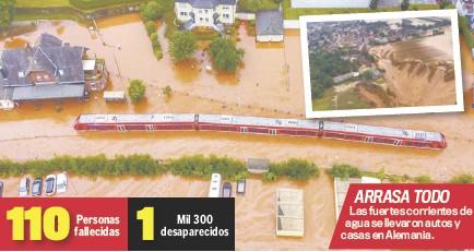 ??  ?? arrasa todo Las fuertes corrientes de agua se llevaron autos y casas en Alemania.